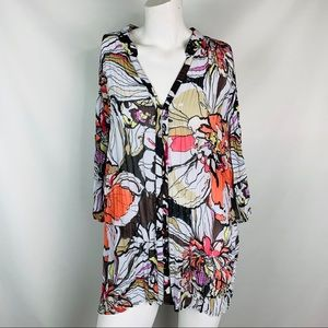 Lane Bryant women's blouse 18–20 floral flowy